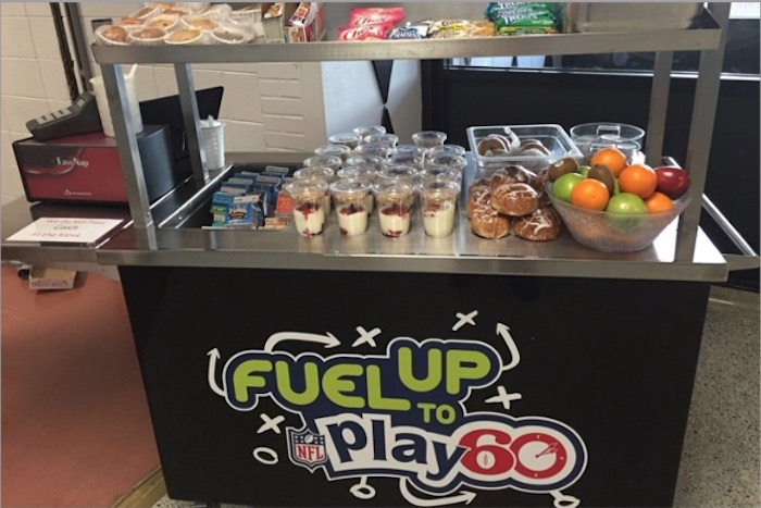 Fuel Up To Play 60 Breakfast Cart