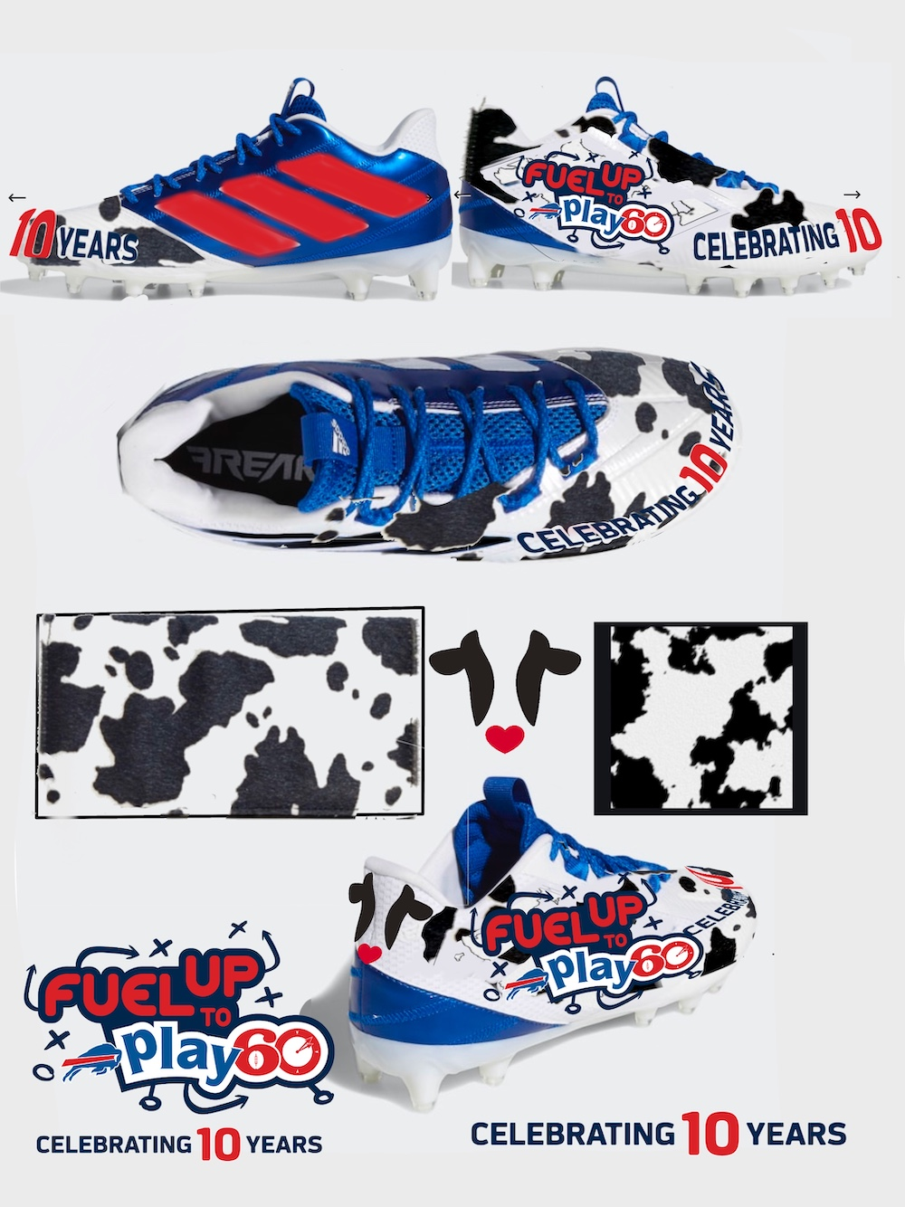 Fuel Up To Play 60 Cleat Design