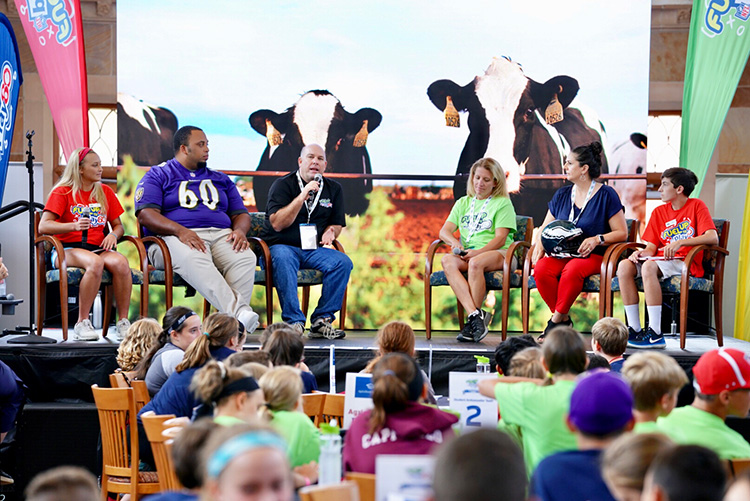 Fuel Up To Play 60 Panel with Dairy Farmers