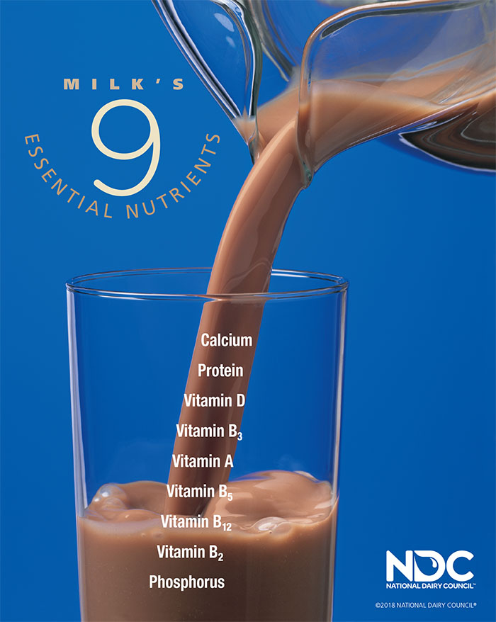 Chocolate Milk's 9 Essential Nutrients