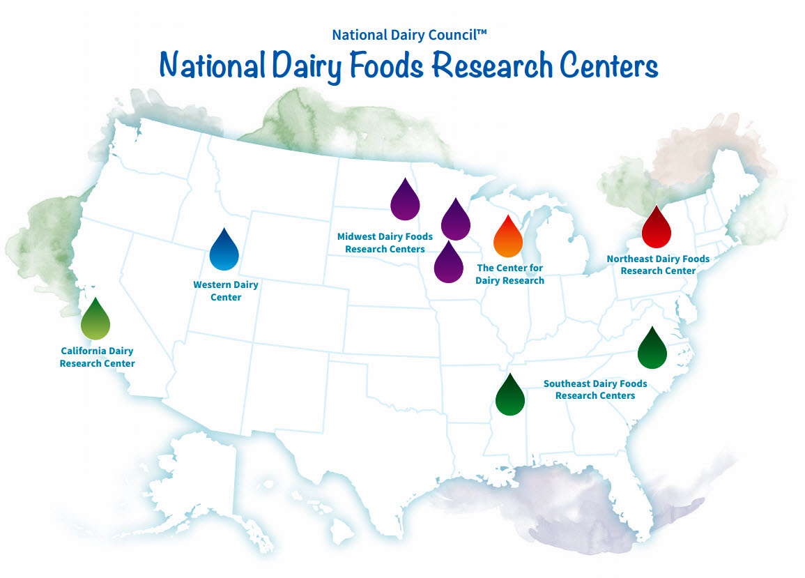 Dairy Research Centers Map