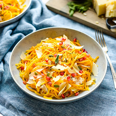Parmesan and Pomegranate Butternut Squash Noodles
